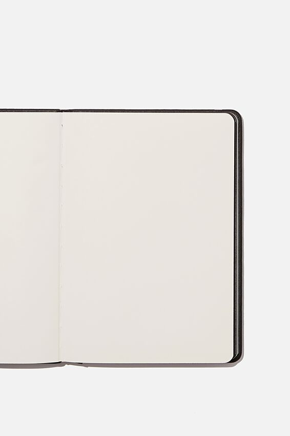 A5 Blank Buffalo Journal, JET BLACK