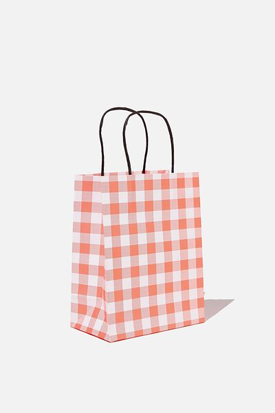 Get Stuffed Gift Bag - Small, RED GINGHAM