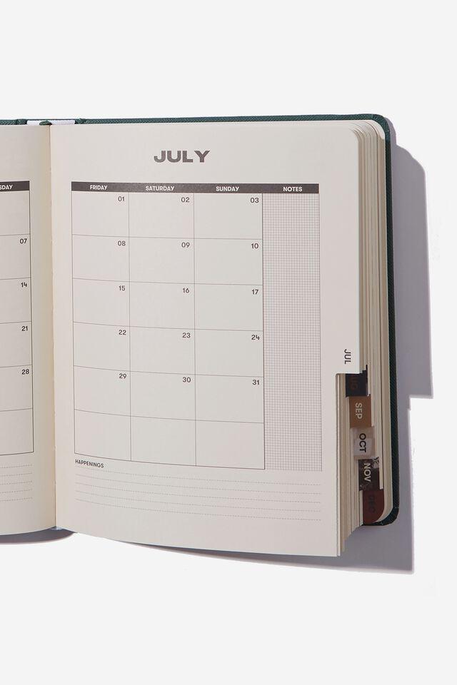 2022 Small Daily Wellness Planner, DEEP GREEN REMINDER