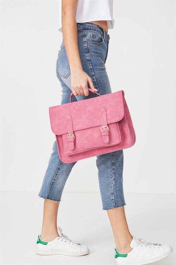 Satchel Bag, RASPBERRY