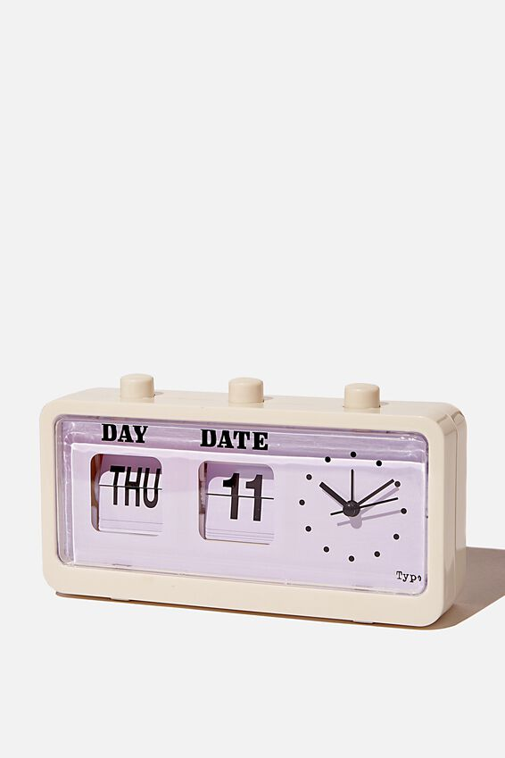 Retro Flip Clock, ECRU