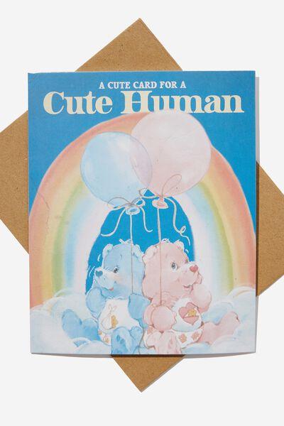 Nice Birthday Card, LCN CLC CARE BEARS CUTE HUMAN BALLOONS