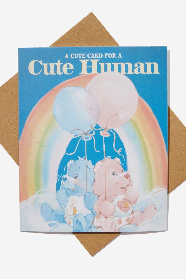 Care Bears Nice Birthday Card, LCN CLC CARE BEARS CUTE HUMAN BALLOONS