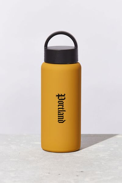 Personalised Mini Gotta Go Metal Drink Bottle, MUSTARD