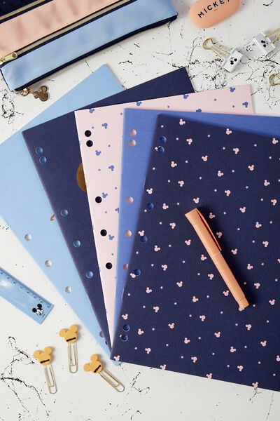Work It Out Notebook pk 5, LCN MICKEY NAVY PEACH