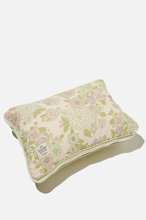 Convertible Cushion Throw, GUM LEAF MOLLY FLORAL