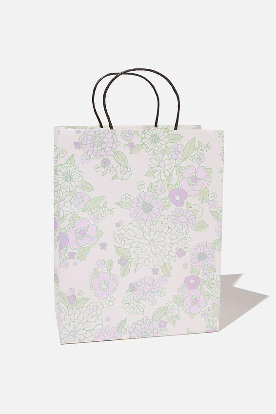Get Stuffed Gift Bag - Medium, MOLLY FLORAL MINT LILAC