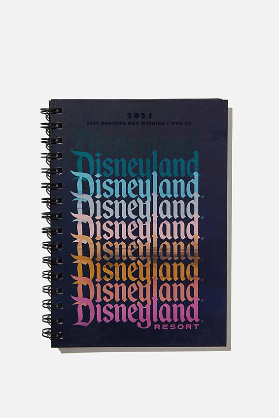 2021 A5 Disney Spiral Diary, LCN DISNEY LAND OMBRE