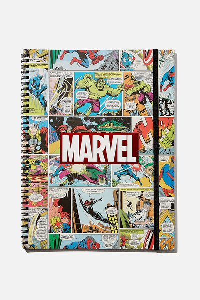 A4 Spinout Notebook Recycled, LCN MARVEL COMIC