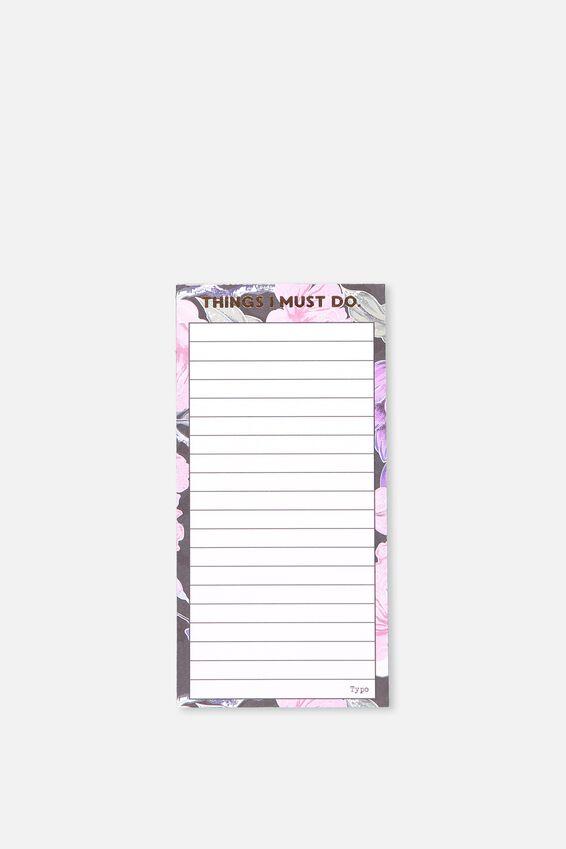 Make A List Note Pad, LUSH FLORAL