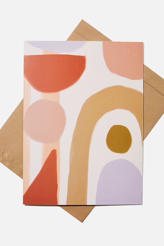 Large Fashion Card, ABSTRACT ARCHES