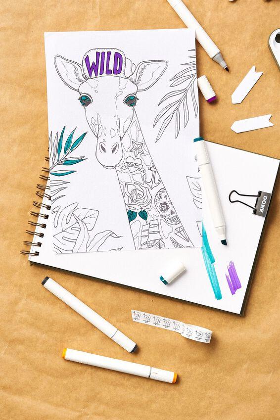 A5 Spiral Sketch Book, KHAKI
