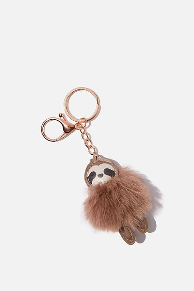 Bag Charm, SLOTH POM POM