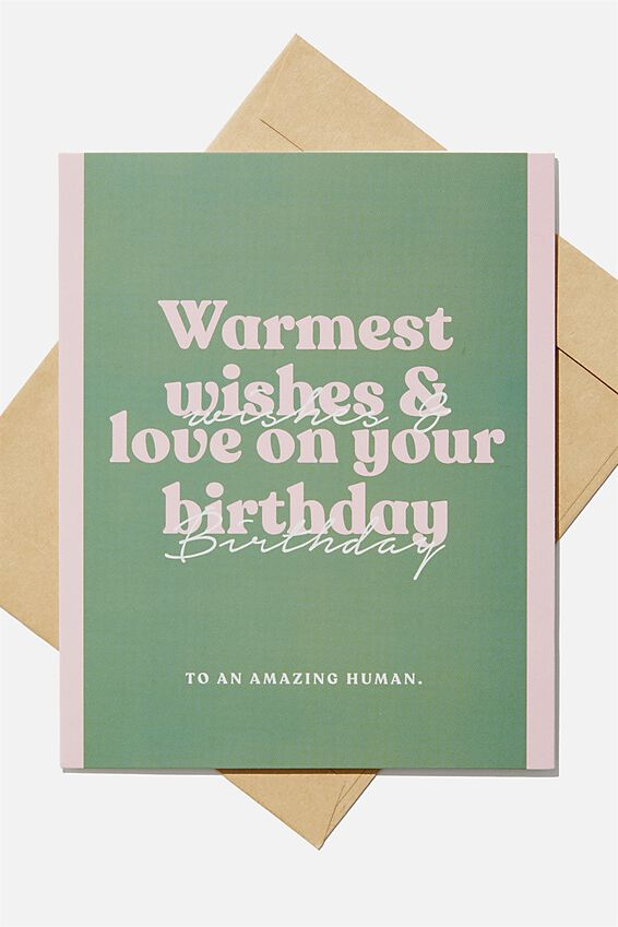Nice Birthday Card, WARMEST WISHES AND LOVE