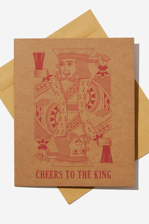 Funny Birthday Card, CHEERS KING