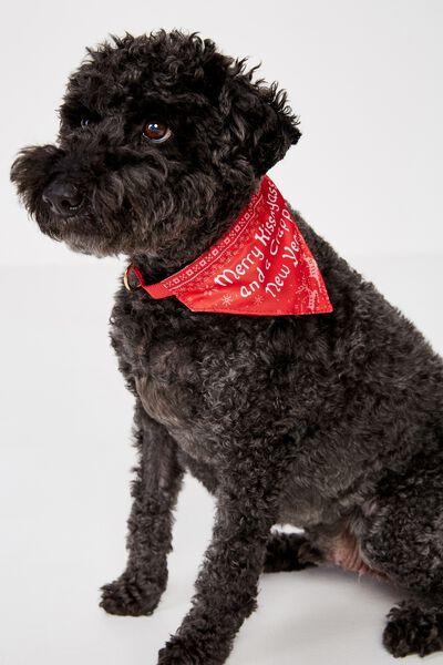 Christmas Dog Bandana, MERRY KISSMYASS!