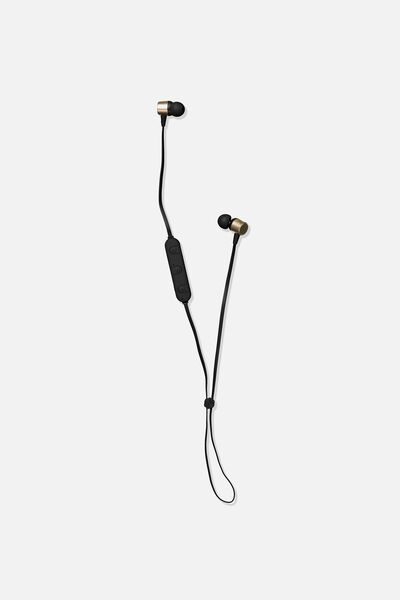 Active Wireless Earphones, BLACK & GOLD