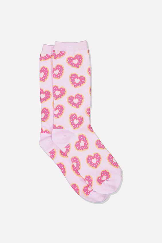 Socks, HEART DONUTS PURPLE