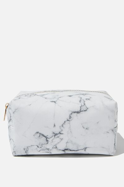 Made Up Cosmetic Bag, WHITE MARBLE
