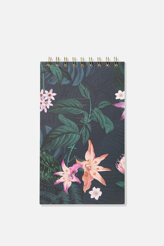 Flipout Notepad, JUNGLE FLORAL TO DO LIST