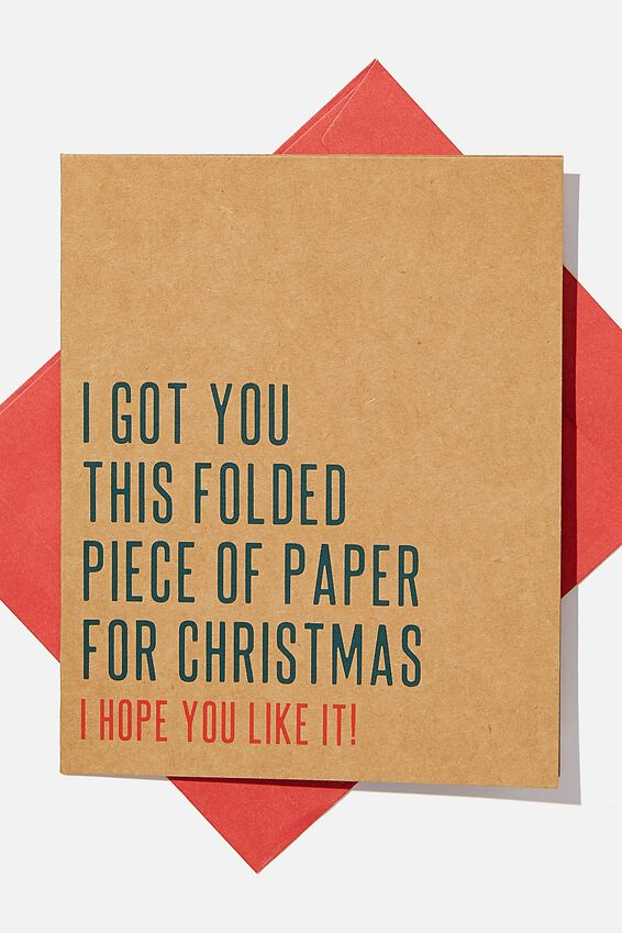 Christmas Card 2020, FOLDED PIECE OF PAPER