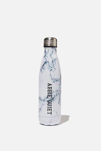 Personalised 500ml Metal Drink Bottle, MARBLE