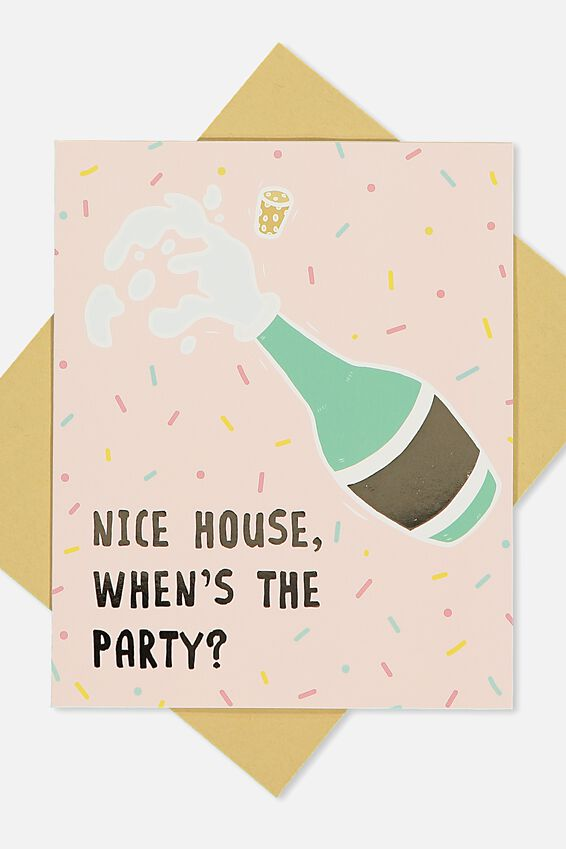 Home Card, WHENS THE PARTY?!