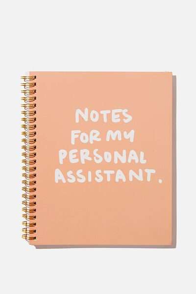 "A5 Campus Notebook-V (8.27"" x 5.83""), PERSONAL ASSISTANT"