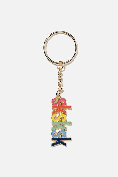 Enamel Keyring, CUT OUT SKSK