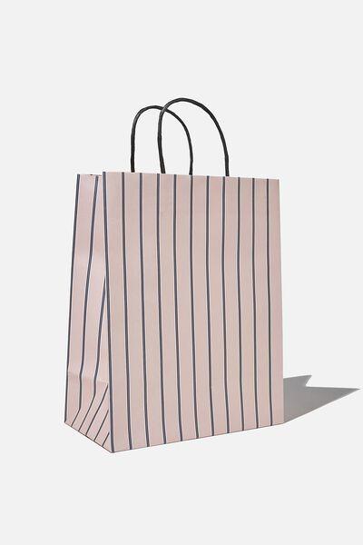 Get Stuffed Gift Bag - Medium, JUSTIN STRIPE