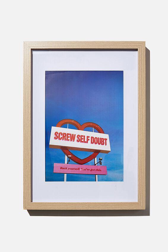 A4 Framed Print, SELF DOUBT