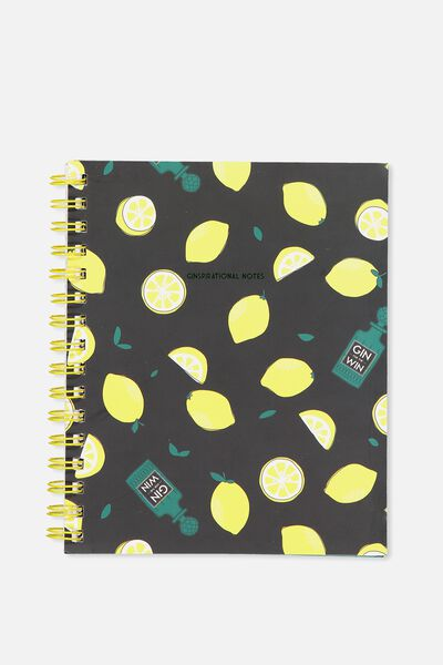 Medium Campus Notebook - 240 Pages, GIN AND TONIC!
