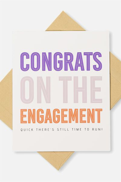 Engagement Card, STILL TIME TO RUN