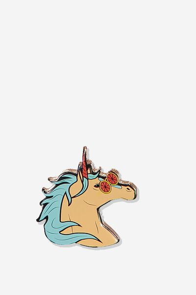 Enamel Badges, UNICORN PEACH