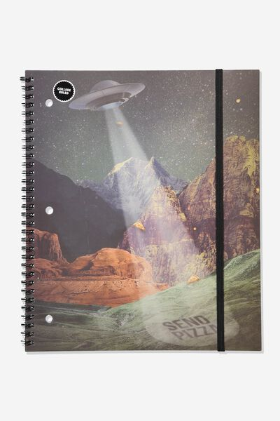 College Ruled Spinout Notebook V, SPACED OUT