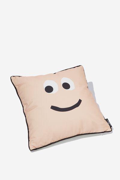 Square Cushy Cushion, FACE POLKA