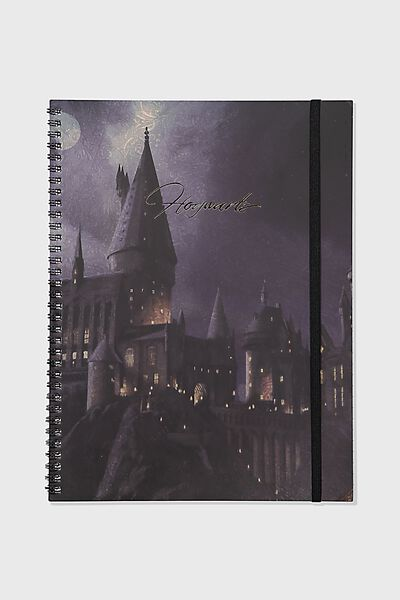 A4 Spinout Notebook Recycled, LCN WB HPO HOGWARTS