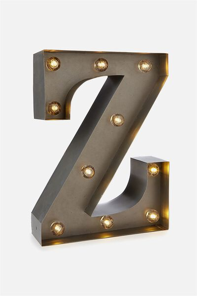 Small Letter Marquee Light, SILVER Z