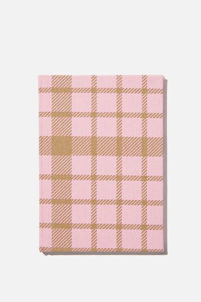 A5 Oxford Notebook, RETRO PINK CHECK