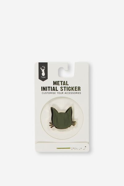 Metal Stickers, GOLD CAT