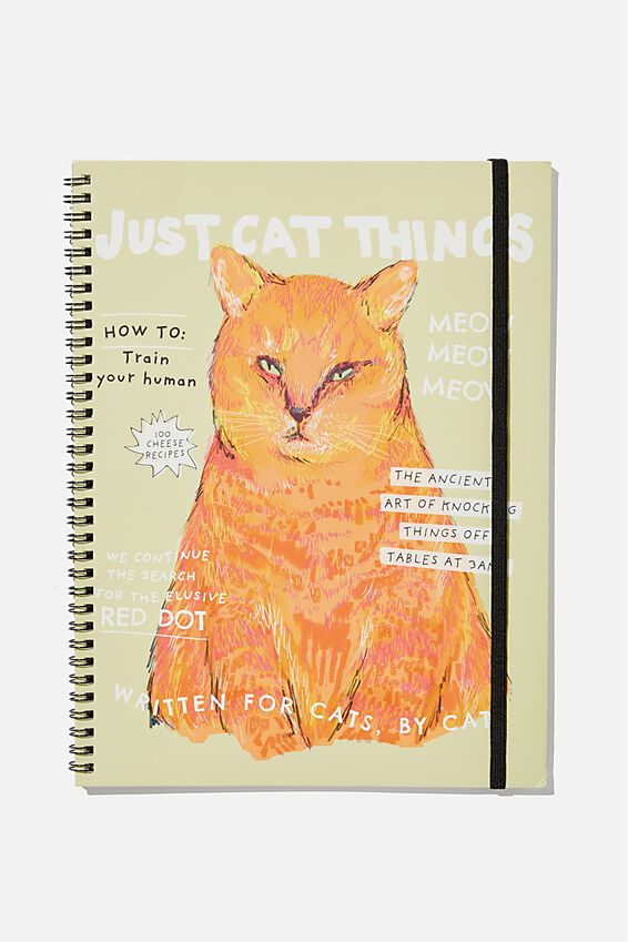 A4 Spinout Notebook Recycled, JUST CAT THINGS