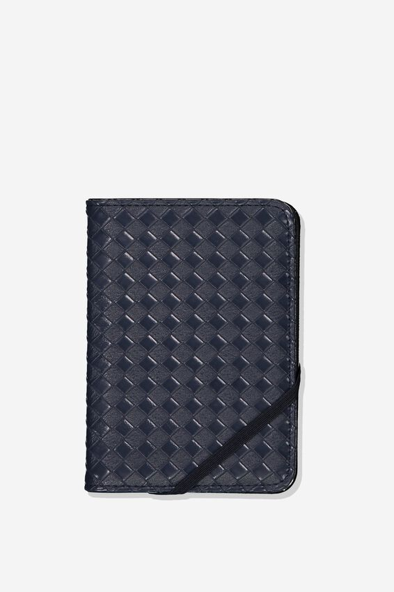 Passport Holder, NAVY WEAVE