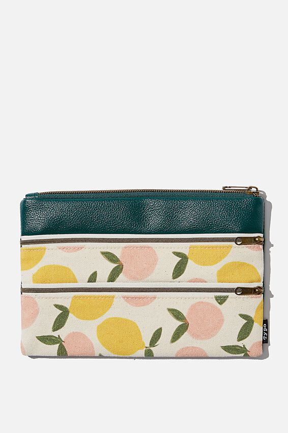 Double Archer Pencil Case, CITRUS