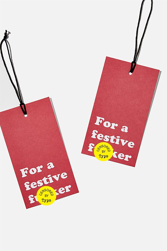 Jumbo Gift Tag Pack, FOR A FESTIVE F*CKER!!