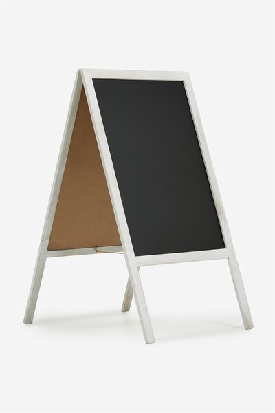 A1 Chalkboard, WHITE WASH