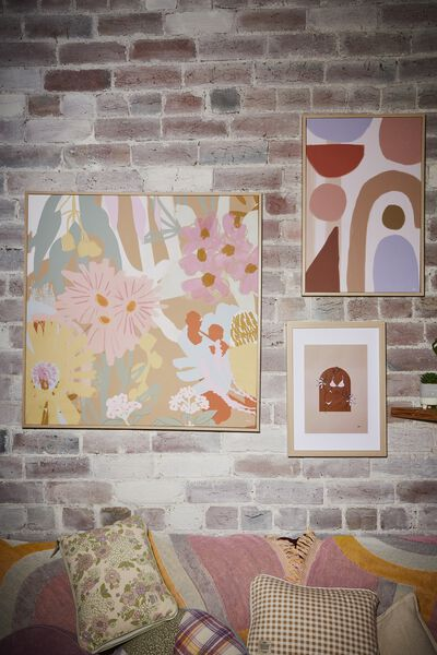 80 X 80 Canvas Art, ABSTRACT NATIVES