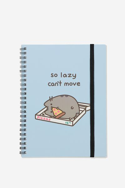 A5 Spinout Notebook Recycled, LCN PUSH PUSHEEN PIZZA