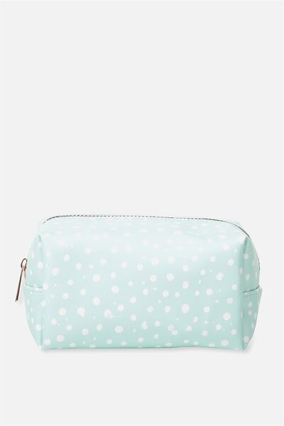 Made Up Cosmetic Bag, AQUA POLKA