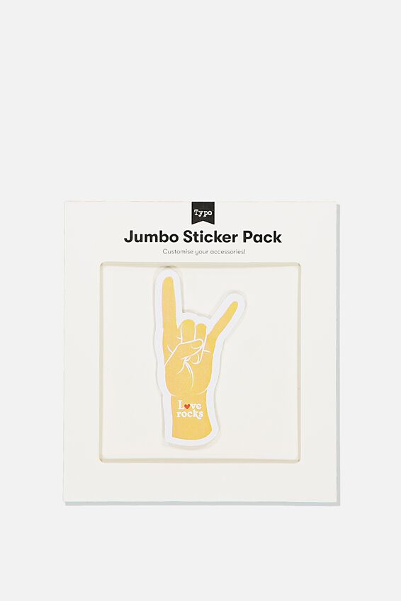 Jumbo Sticker, LOVE ROCKS