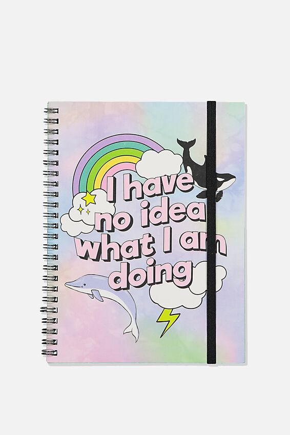 A5 Spinout Notebook Recycled, SARCASTIC RAINBOW